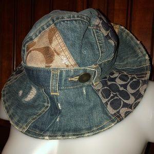 Coach Limited Edition Patchwork Denim Bucket Hat